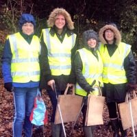 Battling the elements to help keep Portishead beach free of plastic litter